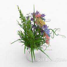 鲜花盆栽摆设3d模型下载