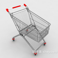 超市购物车3d模型下载