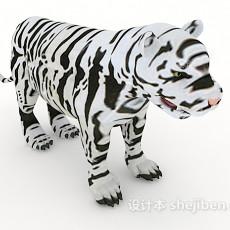 斑纹老虎3d模型下载