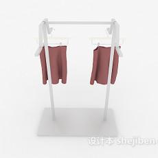 衣物展架3d模型下载
