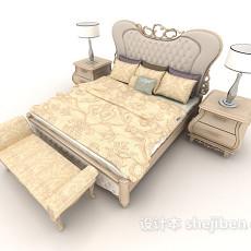 欧式简约家居床3d模型下载