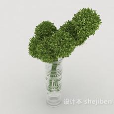 简约办公室盆栽3d模型下载