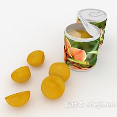 水果罐头3d模型下载