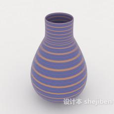 紫色瓷器摆设品3d模型下载