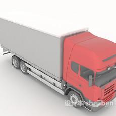 运输货物车3d模型下载