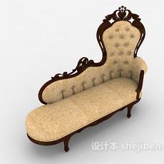 欧式古典贵妃椅3d模型下载