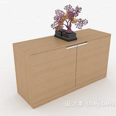 现代家庭实木家居边柜3d模型下载