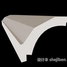 白色石膏线构件3d模型下载