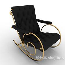 欧式风格摇椅3d模型下载