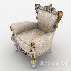 欧式风格高档沙发3d模型下载