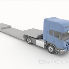 运输大卡车3d模型下载