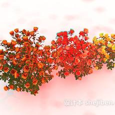 玫瑰植物花丛3d模型下载