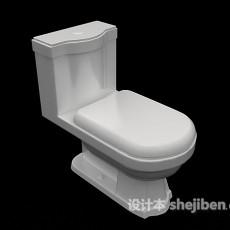 家庭传统马桶3d模型下载