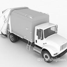 运货大卡车3d模型下载