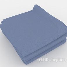 蓝色浴巾3d模型下载