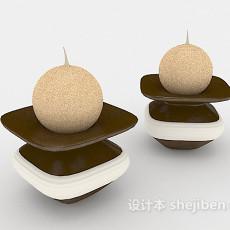 现代个性烛台灯3d模型下载