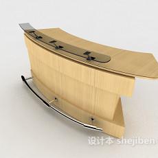简约大方班台3d模型下载