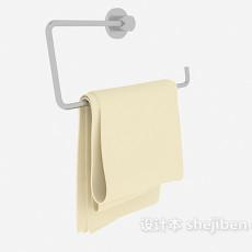 简约毛巾杆3d模型下载