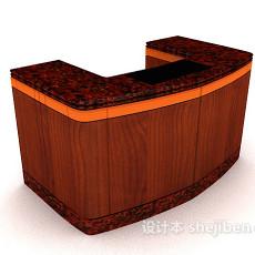 红木班台3d模型下载