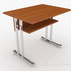学校单人书桌3d模型下载