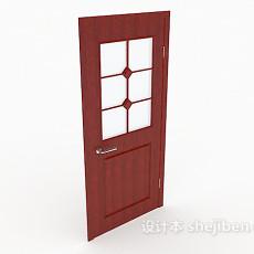 红色房门3d模型下载