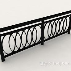 黑色金属栏杆3d模型下载