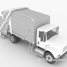 垃圾运输车3d模型下载