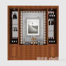 家居简约酒柜3d模型下载