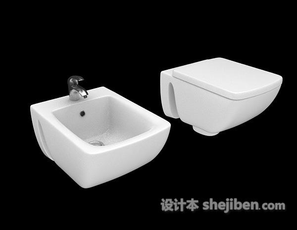 白色厕所清洁池