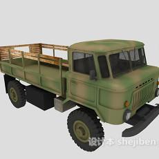 绿皮卡车3d模型下载