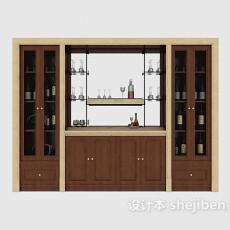 现代家居酒柜3d模型下载