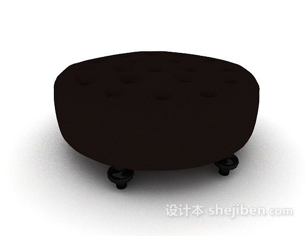 黑色欧式沙发凳