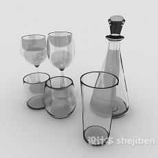 玻璃酒杯3d模型下载