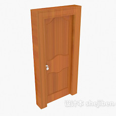 厚实房门3d模型下载
