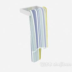 条纹毛巾3d模型下载