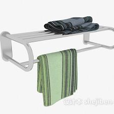 毛巾架、毛巾杆3d模型下载