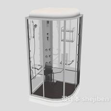 玻璃浴室间3d模型下载