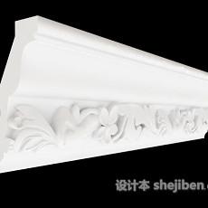 欧式风格石膏线3d模型下载