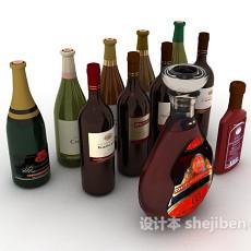 洋酒、啤酒3d模型下载