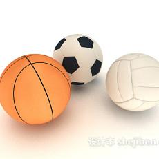 大小足球3d模型下载