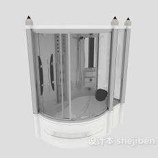 独立家庭浴室3d模型下载