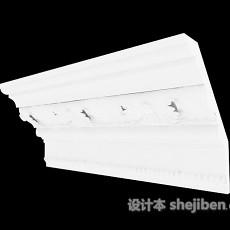 常见白色石膏线3d模型下载