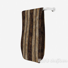 沐浴毛巾3d模型下载