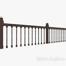 家居室内栏杆3d模型下载