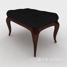 欧式家居化妆凳3d模型下载
