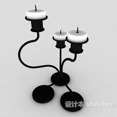 简欧家居烛台灯3d模型下载