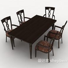 新古典风格桌椅组合3d模型下载