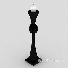黑色烛台3d模型下载