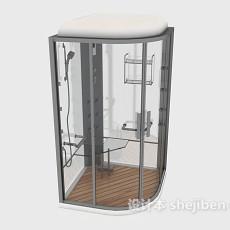 独立玻璃浴室3d模型下载