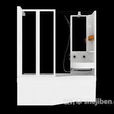 家庭浴室结构3d模型下载